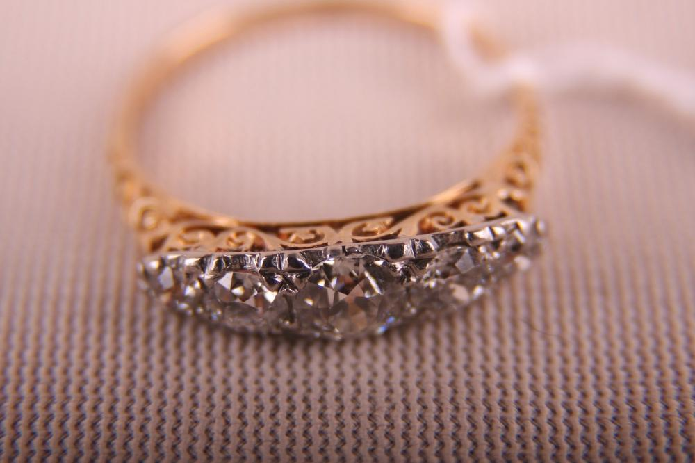 LADIES 14K TWO TONE RING