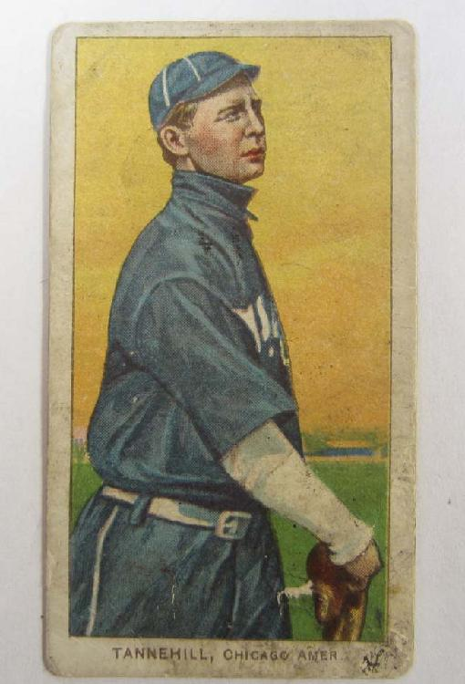 C. 1910 T206 TANNEHILL CHICAGO BASEBALL CARD - PIEDMONT BACK