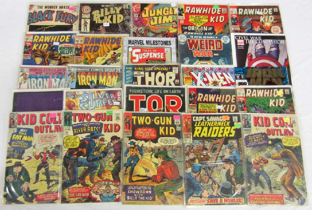 LOT OF APPROX. 25 VINTAGE COMIC BOOKS - INCL 10 & 12 CENT COVERS