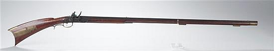 Full-Stock Flintlock Kentucky-Style Rifle Made By Contemporary Gun Maker