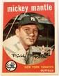 1959 Toppa Mickey Mantle Card SGC 84 NM 7