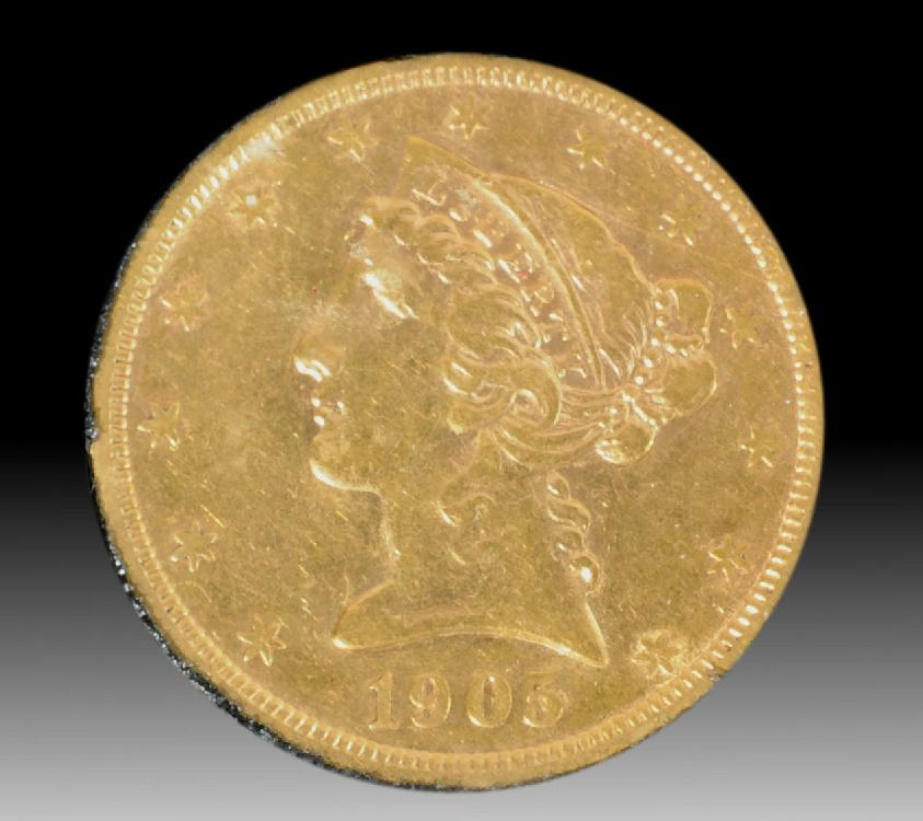 1905-S Liberty $5 Gold Coin