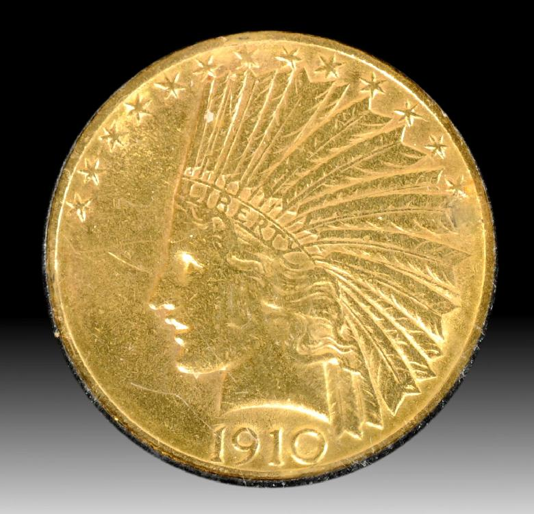 1910-D US $10 Indian Gold Coin