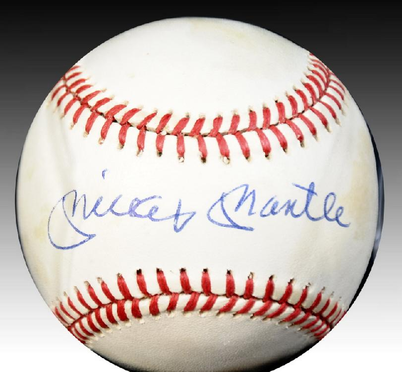Mickey Mantle Autographed Baseball Certified by PSA/DNA