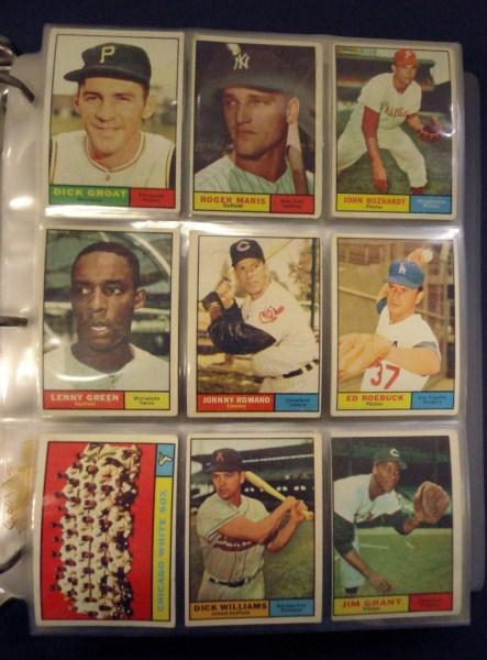 1961 Topps Partial Set (268 cards) VGEX-VG