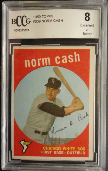 1959 Topps #509 Norm Cash ROOKIE BCCG 8 Excellent