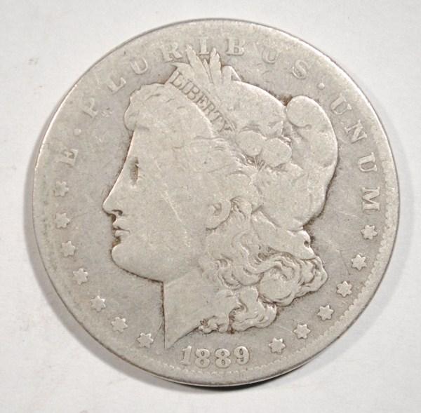 1889-CC MORGAN DOLLAR VG ORIGINAL