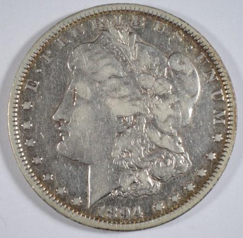 1894 Morgan $ VF est $1200-$1300