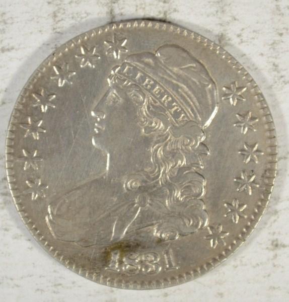 1831 BUST HALF XF/AU