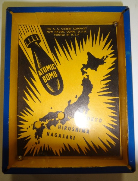"VERY RARE A.C. Gilbert Co Dexterity Puzzle Game ""Atomic Bomb"" circa late 1940's"