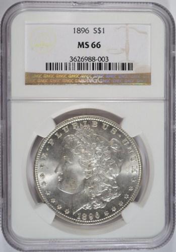 1896 MORGAN DOLLAR NGC MS66!