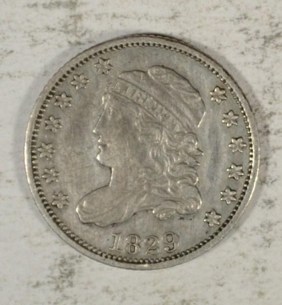 1829 BUST HALF DIME XF/AU