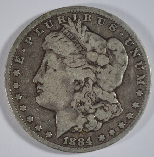 1884-CC MORGAN DOLLAR VG+
