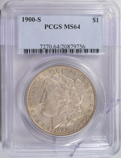 1900-S MORGAN DOLLAR PCGS MS64 COLOR!