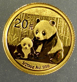 2012 1/20 OUNCE .999 GOLD CHINESE PANDA