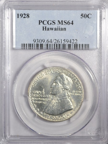 1928 HAWAIIAN HALF DOLLAR PCGS MS 64 SUPER COIN!