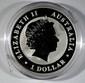 2013 AUSTRALIAN ONE DOLLAR KOOKABURRA, 1 oz. SILVER