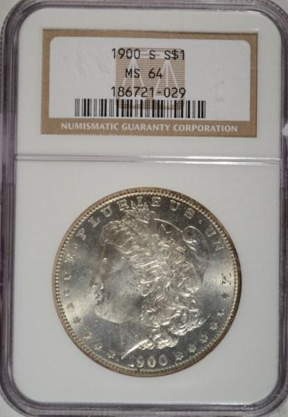 1900S Morgan $ NGC64 est $600-$650