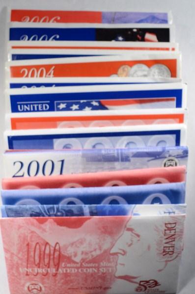 1999 THRU 2006 U.S. MINT UNCIRCULATED SETS