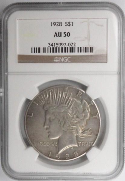1928 Peace $ NGC50 est $390-$400