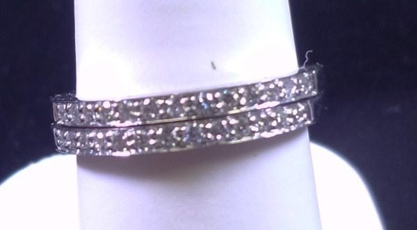 Diamond Wedding Bands Like New! 14K White gold