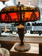 ROYAL ART GLASS CO. SLAG GLASS TABLE LAMP