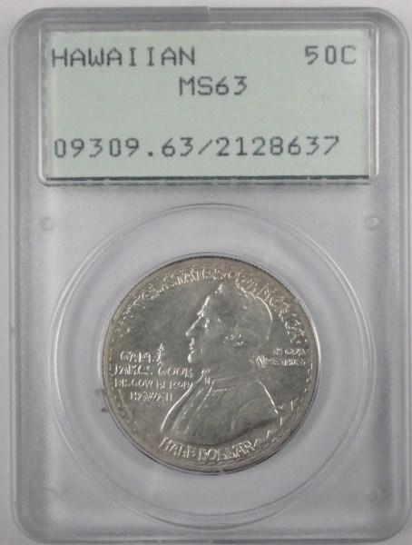 1928 Hawaiian half $ OGH PCGS63 EST $2600-$2700