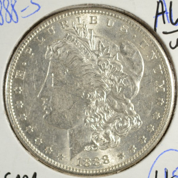 1888 S MORGAN DOLLAR AU/UNC NICE
