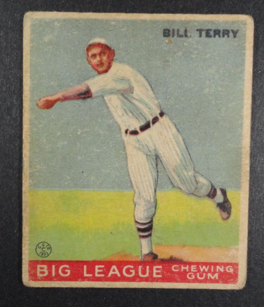 1933 Goudey baseball card #20 BILL TERRY VG Book value $900