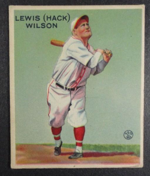 "1933 Goudey baseball card #211 ""HACK"" WILSON VGEX+ Book value $700"