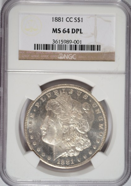 1881 CC MORGAN DOLLAR NGC MS 64DPL
