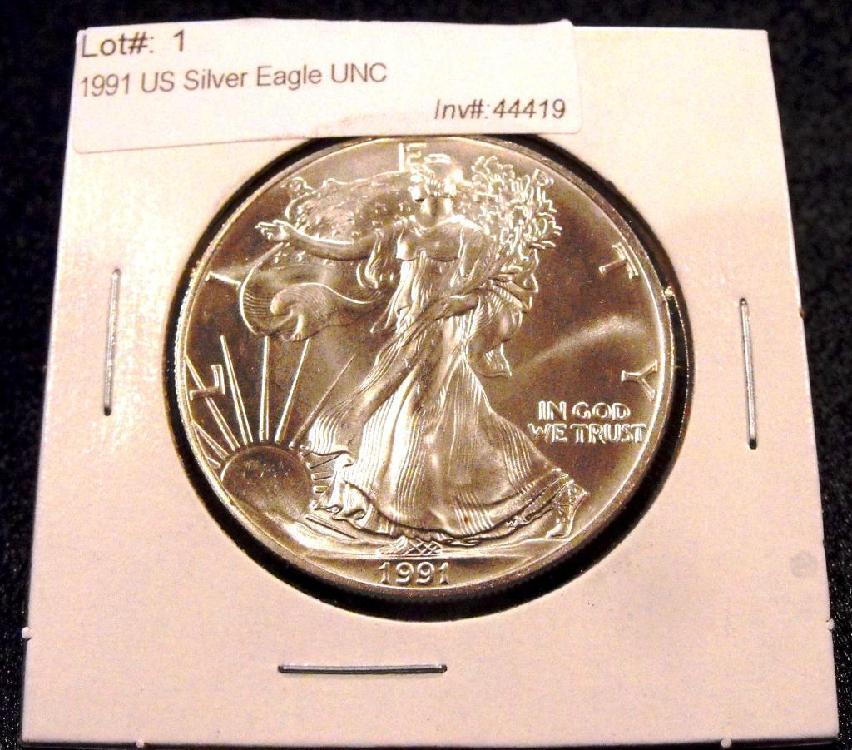 1991 US Silver Eagle UNC