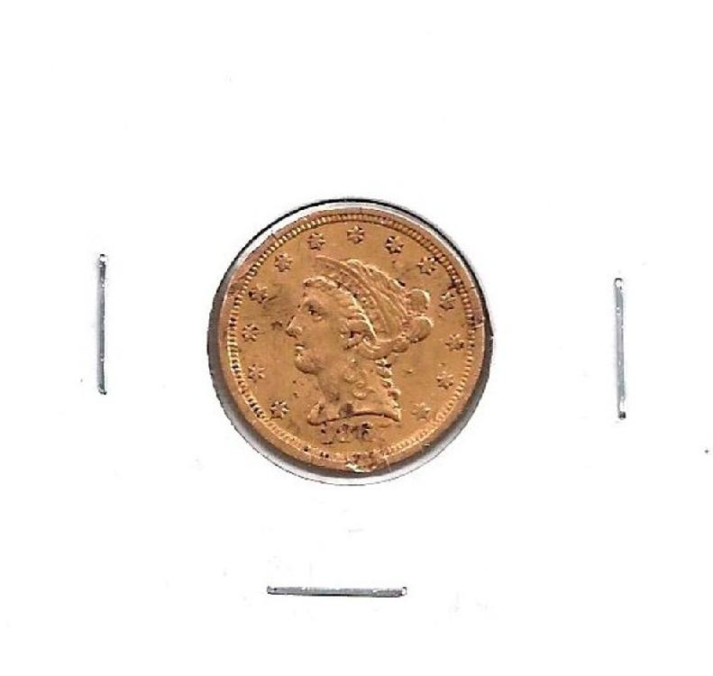 1867 S $ 2.5 Gold Liberty Head Coin