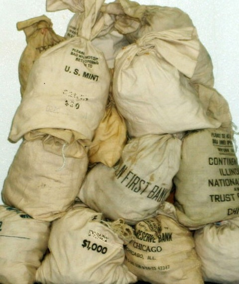 Lot of (100) Peace Dollars Unsearched in Bag