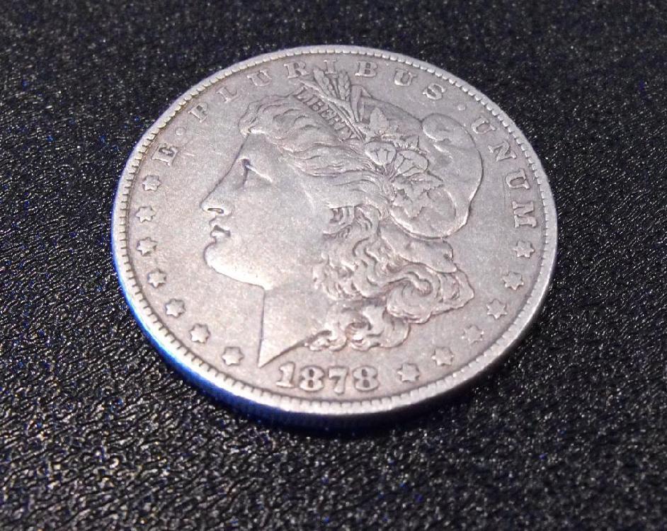 1878 P 7 TF Morgan Silver Dollat
