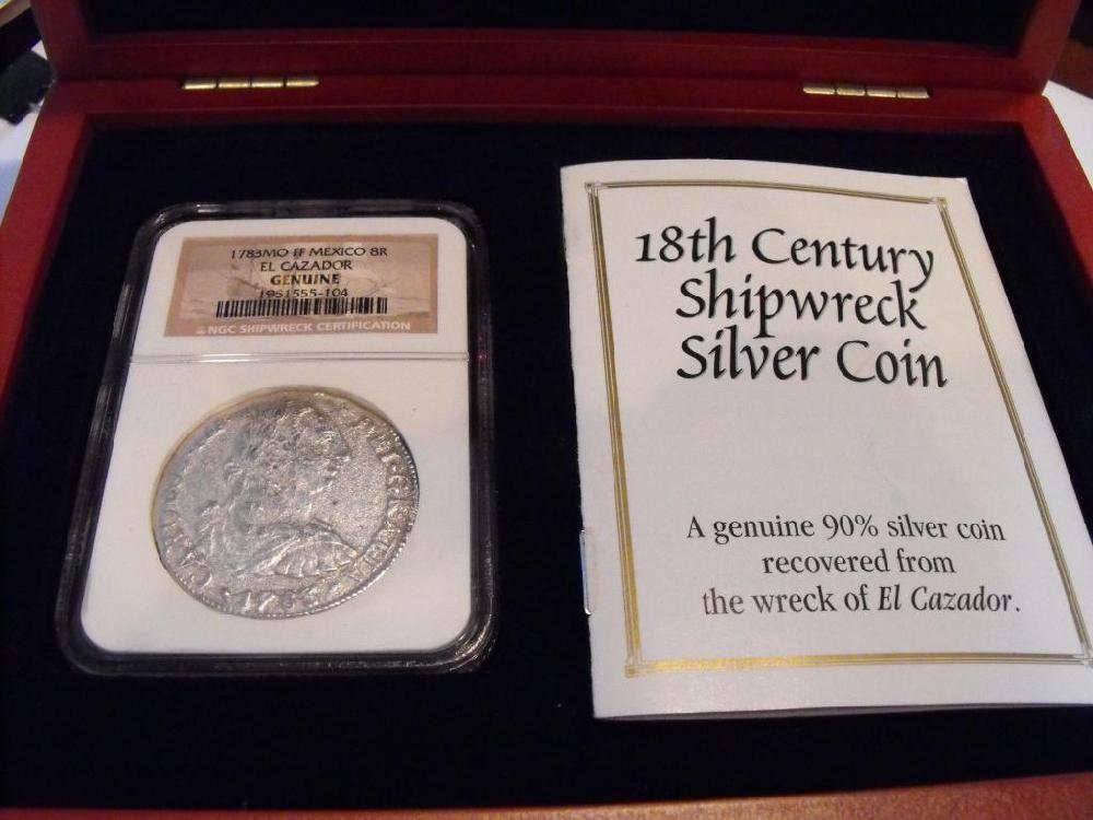 1783 8 REALES NGC Treasure $ 890 List