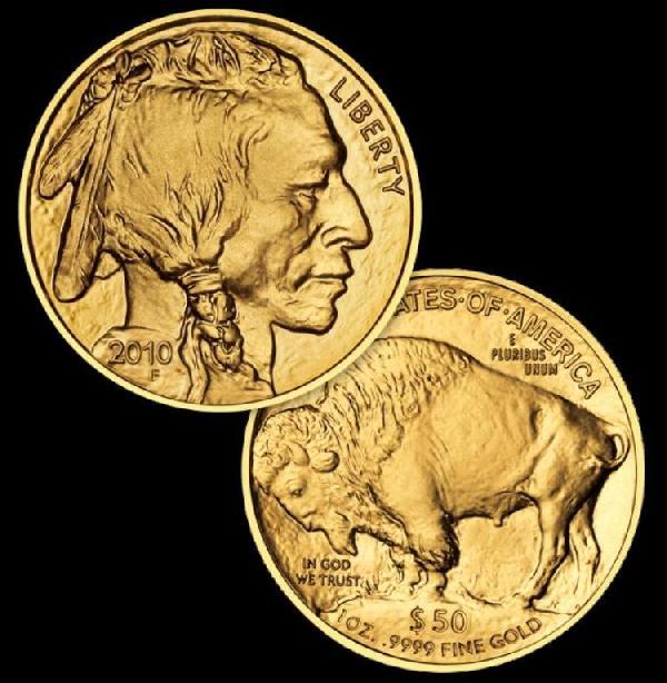 A Random Date Gold Buffalo Bullion Coin