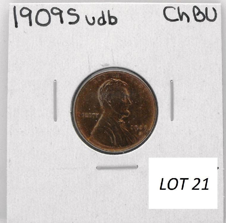 1909 S VDB BU Lincoln Wheat Cent RARE