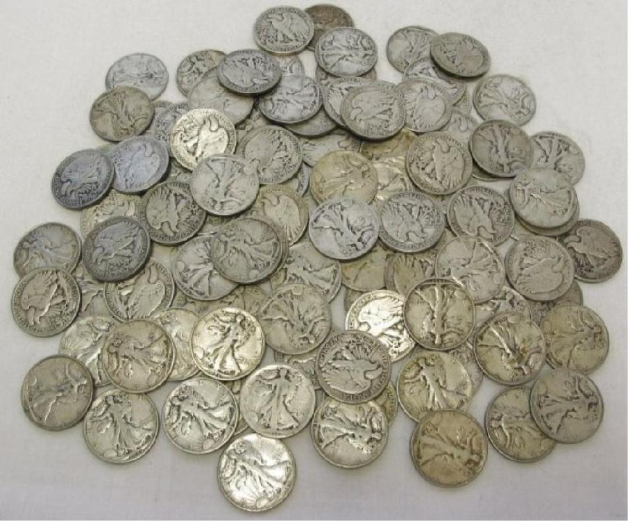 Lot of 100 Morgan Silver Dollars - large cache