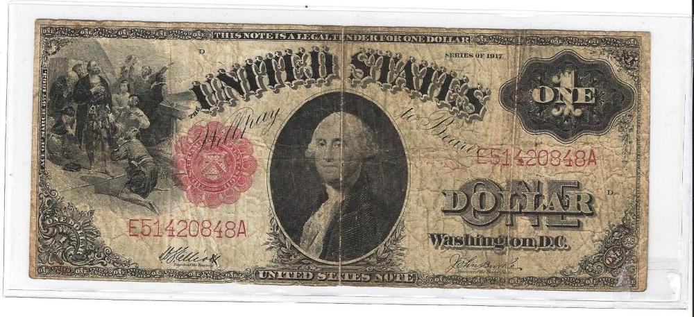 1917 Red Seal US Note -