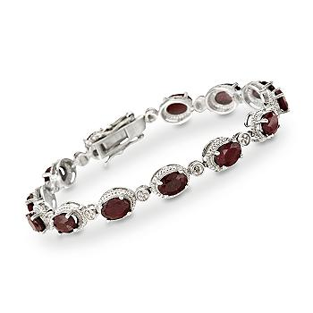 9.10 ct. t.w. Ruby Bracelet in Sterling