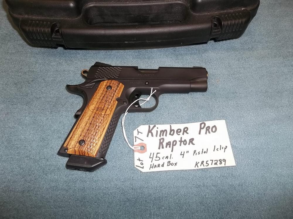 """Kimber Pro Raptor 45 Cal. 4"""" Pistol KR 57289 (7T)"""
