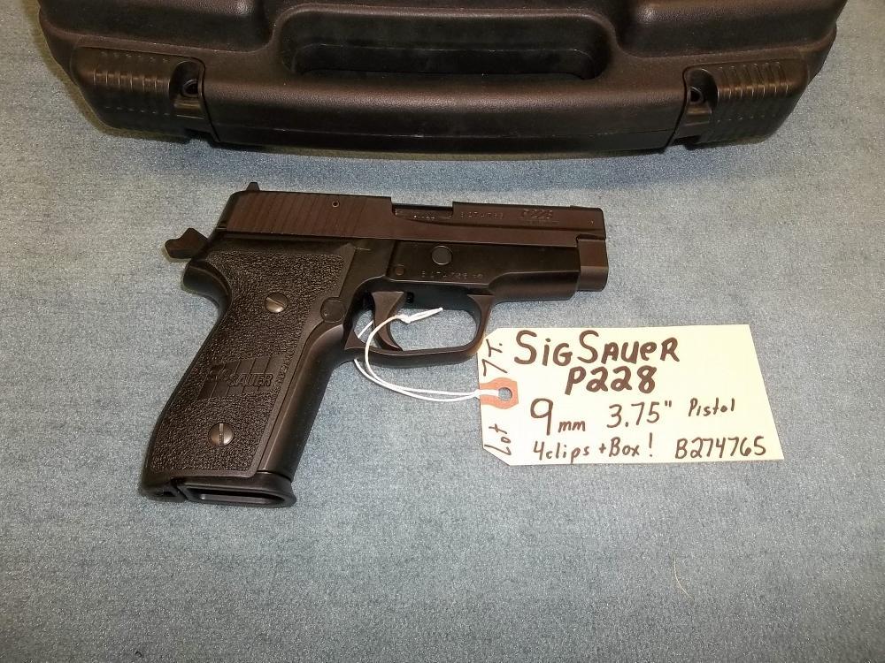 """SigSauer P228 9mm 3.75"""" Pistol B274765 (7T)"""