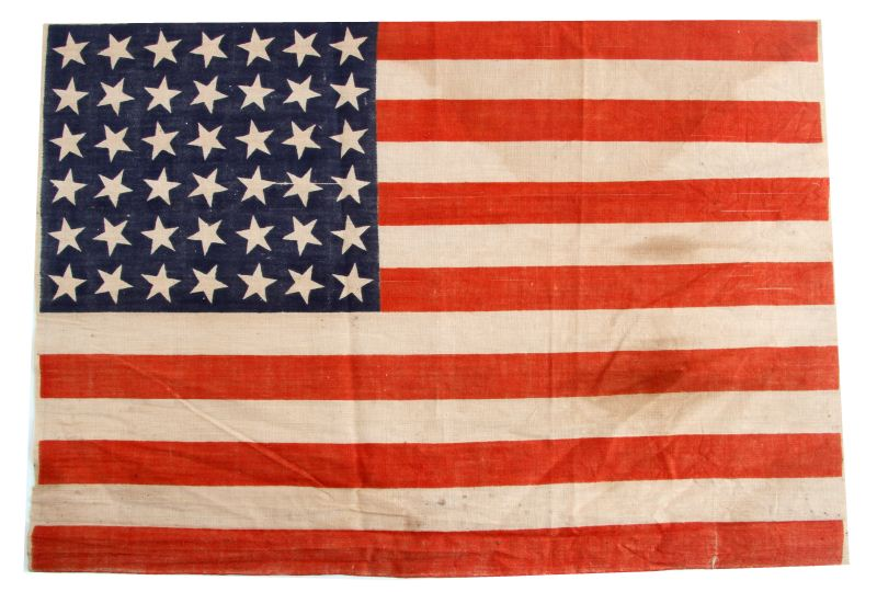 1869 42 STAR UNITED STATES FLAG 17X12