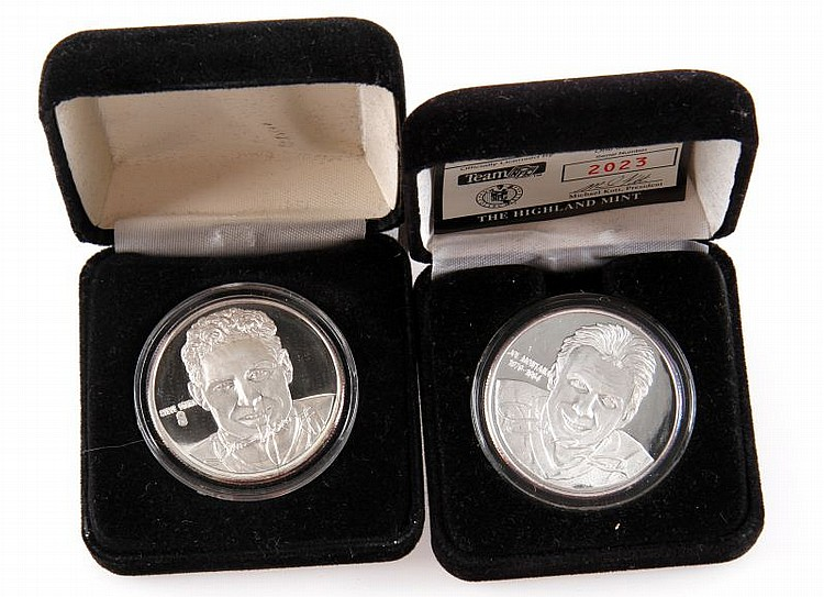 TWO HIGHLAND MINT .999 SILVER COINS STEVE YOUNG