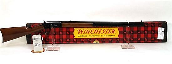 "Winchester Canadian Centennial 67 Commemorative lever action rifle. Cal. 30-30. 26"" octagon bbl. SN 82457. Blued finish on metal, pl..."