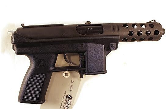 "Intratec Mod TEC-DC9 semi-automatic pistol. Cal. 9 mm. 5"" bbl. SN D077850. Matte finish on metal, polymer frame, threaded barrel, ex..."