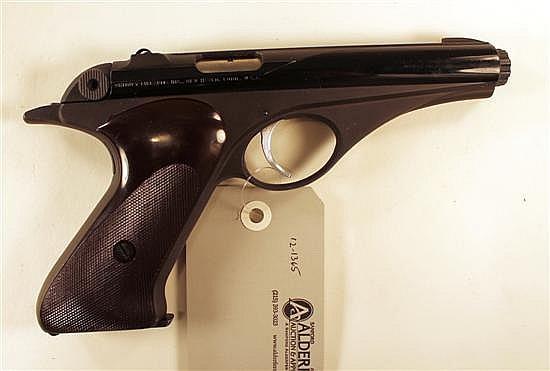"Whitney Firearms Co. Wolverine semi-automatic pistol. Cal. 22 LR. 4-3/4"" bbl. SN 29728. Blued finish on slide, slide shows very ligh..."