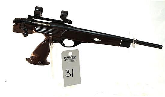 "Remington Model XP-100 Varmint Special single shot bolt action pistol. Cal. 223. 14-1/2"" bbl. SN B7521040. Blued finish on metal, ny..."