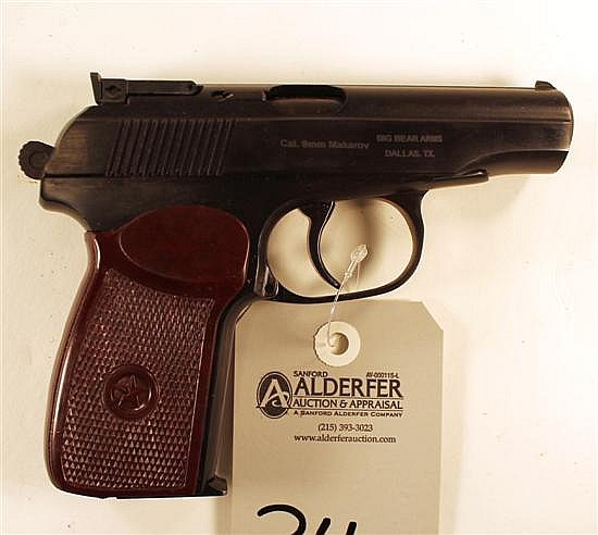 "Russian IJ70-18A Makarov semi-automatic pistol. Cal. 9 x 18 mm. 4"" bbl. SN A0T2119. Blued finish on metal, brown plastic grips show..."